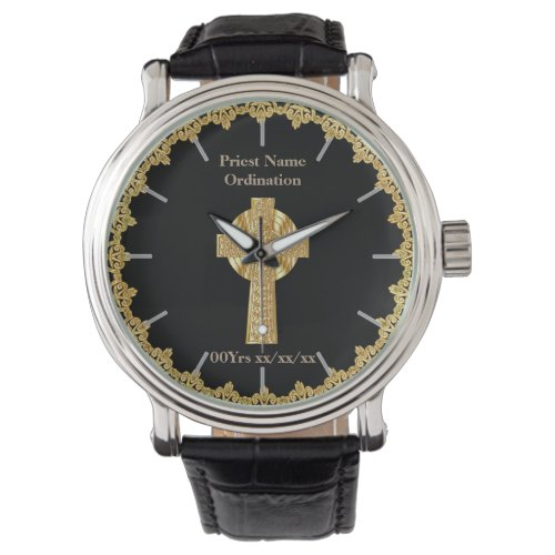 Priest Ordination Anniversary Ordained Named Wrist Watch
