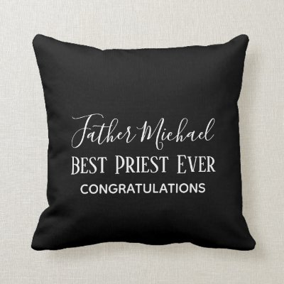 Priest Pastor Clergy Gifts - Simple Personalized Throw Pillow