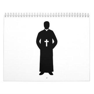 Priest Pastor cross Calendar