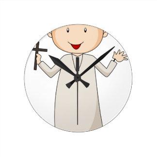 Priest Round Wallclocks