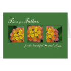 Priest Thank You Father, Memorial Funeral Mass Card
