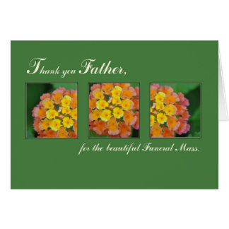 Priest Thank You Father, Memorial Funeral Mass Greeting Card