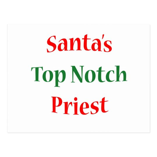 Priest Top Notch Postcard