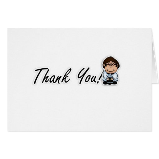 Priest, Vicar, Pastor Thank You Card Wedding
