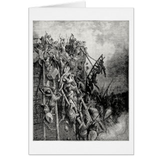 Priest Volkmar and Count Emicio attack Merseburg Greeting Card