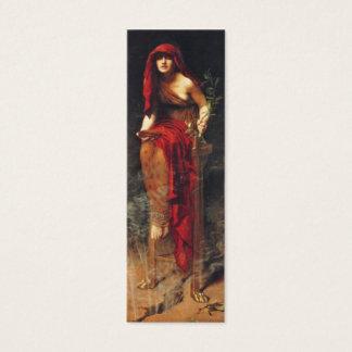 Priestess of Delphi Bookmark by John Maler Collier Mini Business Card