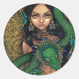 """Priestess of Quetzalcoatl"" Sticker"