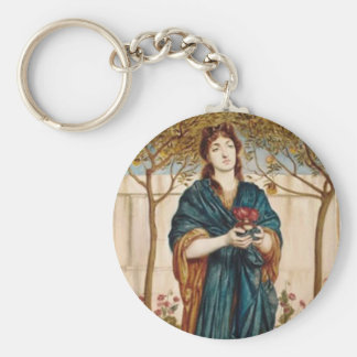 Priestess Offering Poppies - Key Chain