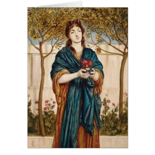 Priestess Offering Poppies - Note Card