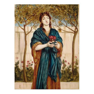 Priestess Offering Poppies - Post Card