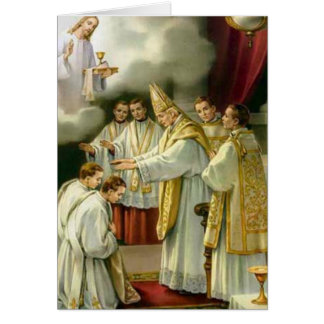 Priesthood Anniversary Bishop Ordination Jesus Card