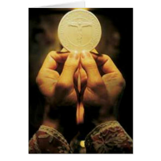 Priesthood Anniversary Host Hands of Priest Card