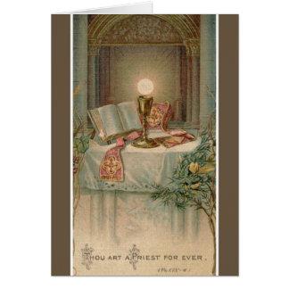 Priesthood Anniversary Missal Host Chalice Altar Card