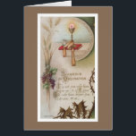"""Priesthood Anniversary Priest Ordination Chalice Card<br><div class=""""desc"""">Beautiful vintage image of the Holy Altar,  Chalice,  Host and Bible  Prayer on front says &quot; It is not you who have chose me,  it is your God who have chosen you.&quot;</div>"""