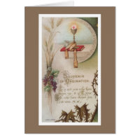 Priesthood Anniversary Priest Ordination Chalice Card