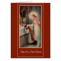 Priesthood Anniversary Priest Ordination Jesus Card