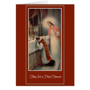 Priesthood Anniversary Priest Ordination Jesus Card at Zazzle