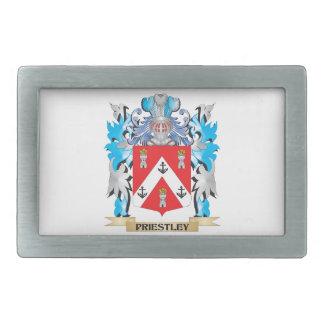 Priestley Coat of Arms - Family Crest Rectangular Belt Buckle