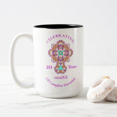 Priests 20th Ordination Anniversary Commemoration  Two-Tone Coffee Mug