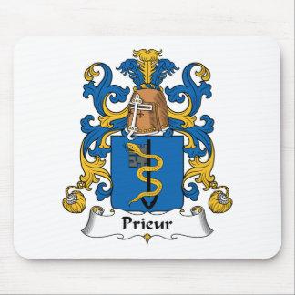 Prieur Family Crest Mouse Pad