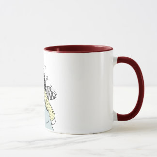 Prim Angel with Heart Country Doodle Mug