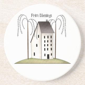 Prim Blessings-Sandstone Coaster