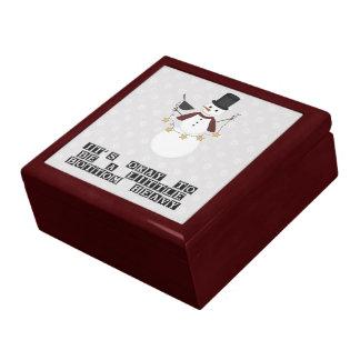 Prim Bottom Heavy Snowman Jewelry and Gift Box