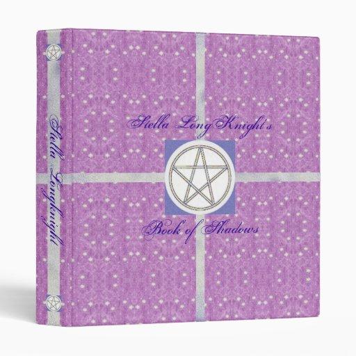 Prim Celestial Pagan Pentacle Sml. 3 Ring Binder