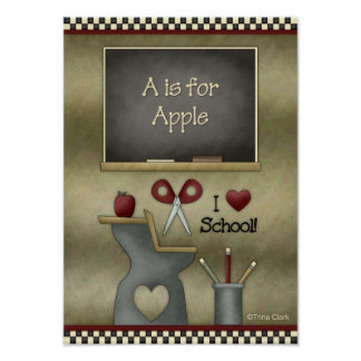 Prim Country School Setting Poster