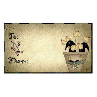 Prim Crows & Flowers - Gift Tags Business Card