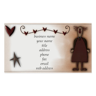 Prim Doll w/Hearts Profile Card Business Cards