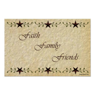 Prim Faith Family Friends Print