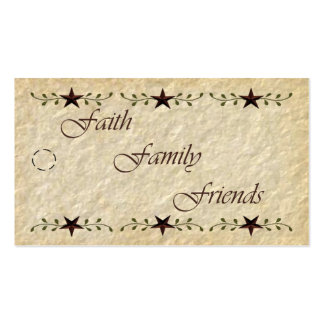 Prim Faith Family Friends Tag Double-Sided Standard Business Cards (Pack Of 100)