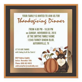 Prim Folkart Autumn Thanksgiving Dinner Party Announcement