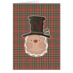 prim gingerbread head with hat cards