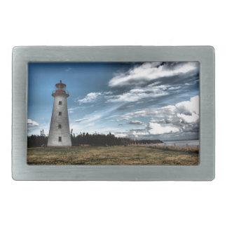 Prim Point Lighthouse Rectangular Belt Buckles
