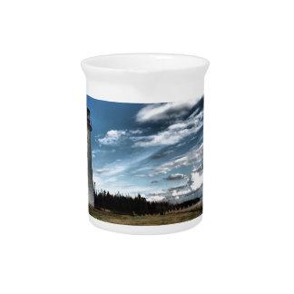 Prim Point Lighthouse Beverage Pitchers