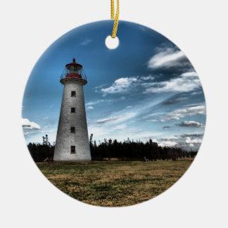 Prim Point Lighthouse Ceramic Ornament