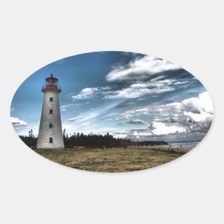 Prim Point Lighthouse Oval Sticker