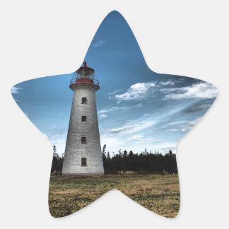 Prim Point Lighthouse Star Sticker