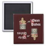 Prim Pots Clean Dirty Dishes Magnet