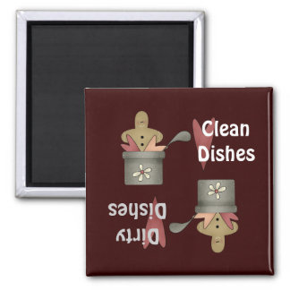 Prim Pots Clean Dirty Dishes Magnet Refrigerator Magnets