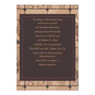 Prim Samhain Patches 2 Woodburned Retro Card
