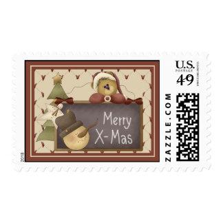 Prim X-Mas Stamps