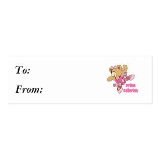 Prima Ballerina Bear Business Card Templates