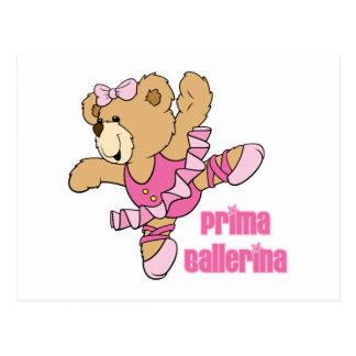 Prima Ballerina Bear Postcard
