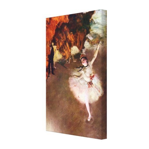 Prima Ballerina by Edgar Degas, Vintage Ballet Art Stretched Canvas Prints