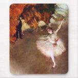 Prima Ballerina by Edgar Degas, Vintage Ballet Art Mousepads