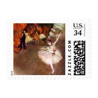 Prima Ballerina by Edgar Degas, Vintage Ballet Art Stamp
