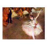 Prima Ballerina by Edgar Degas, Vintage Ballet Art Postcard